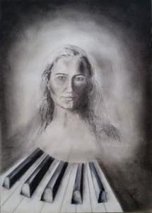 zelfportret-piano